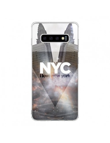 Coque Samsung S10 I Love New York City Gris - Javier Martinez
