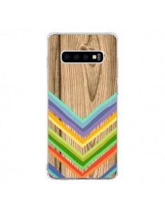 Coque Samsung S10 Tribal Azteque Bois Wood - Jonathan Perez