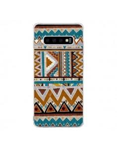 Coque Samsung S10 Azteque Vert Marron - Kris Tate