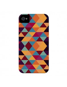 Coque Azteque Triangle Orange pour iPhone 4 et 4S - Eleaxart