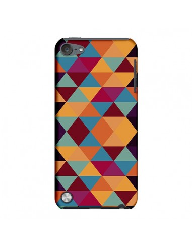 Coque Azteque Triangle Orange pour iPod Touch 5 - Eleaxart