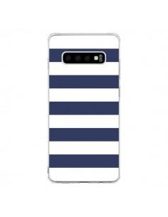 Coque Samsung S10 Bandes Marinières Bleu Blanc Gaultier - Mary Nesrala