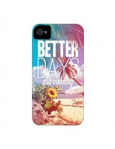Coque Better Days Été pour iPhone 4 et 4S - Eleaxart