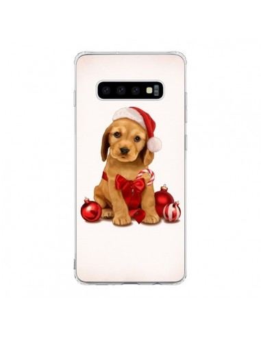 Coque Samsung S10 Chien Dog Pere Noel Christmas Boules Sapin - Maryline Cazenave