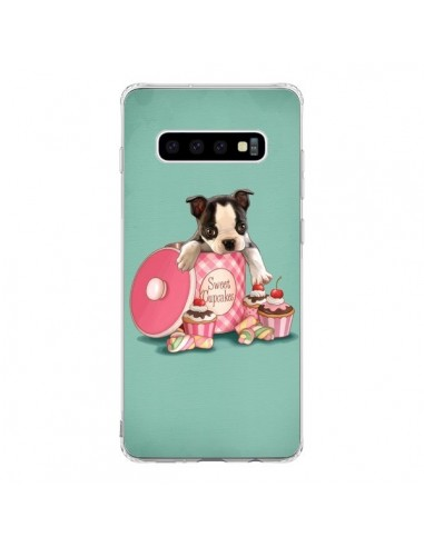 Coque Samsung S10 Chien Dog Cupcakes Gateau Boite - Maryline Cazenave
