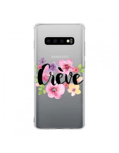 Coque Samsung S10 Crève Fleurs Transparente - Maryline Cazenave