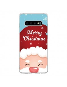 Coque Samsung S10 Bonnet du Père Noël Merry Christmas - Nico