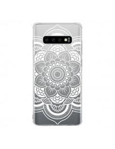 Coque Samsung S10 Mandala Blanc Azteque Transparente - Nico