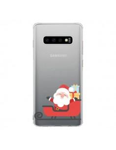 Coque Samsung S10 Père Noël et son Traineau transparente - Nico