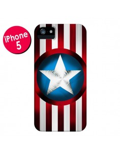 Coque Captain America Great Defender pour iPhone 5 et 5S - Eleaxart