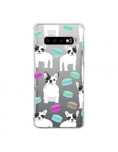 Coque Samsung S10 Chiens Bulldog Français Macarons Transparente - Pet Friendly