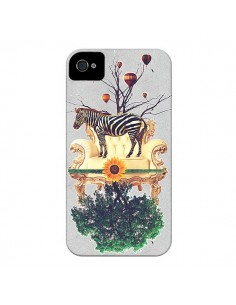 Coque Zebre The World pour iPhone 4 et 4S - Eleaxart