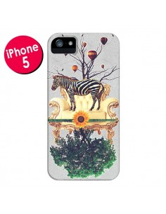 Coque Zebre The World pour iPhone 5 et 5S - Eleaxart