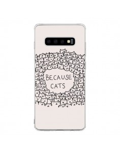 Coque Samsung S10 Because Cats chat - Santiago Taberna