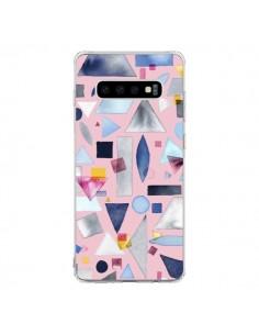 Coque Samsung S10 Geometric Pieces Pink - Ninola Design