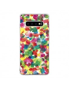 Coque Samsung S10 Speckled Watercolor Blue - Ninola Design