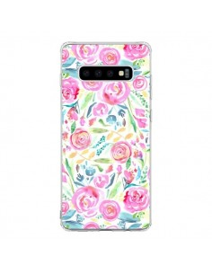 Coque Samsung S10 Speckled Watercolor Pink - Ninola Design
