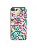 Coque Azteque Triangles Vert Violet pour iPod Touch 5 - Eleaxart