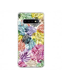 Coque Samsung S10 Tigers and Leopards Yellow - Ninola Design