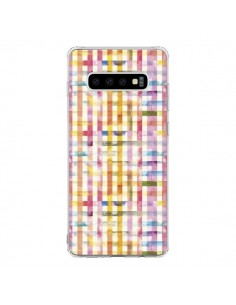 Coque Samsung S10 Vichy Black Yellow - Ninola Design