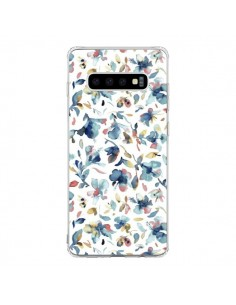 Coque Samsung S10 Watery Hibiscus Blue - Ninola Design