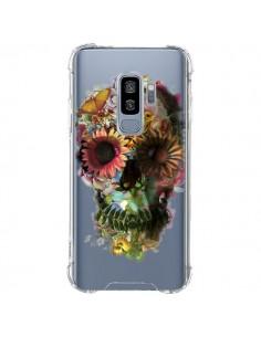 Coque Samsung S9 Plus Skull Flower Tête de Mort Transparente - Ali Gulec