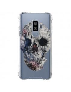 Coque Samsung S9 Plus Floral Skull Tête de Mort Transparente - Ali Gulec