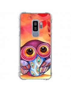 Coque Samsung S9 Plus Chouette Feuilles Automne - Annya Kai