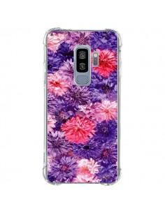 Coque Samsung S9 Plus Fleurs Violettes Flower Storm - Asano Yamazaki