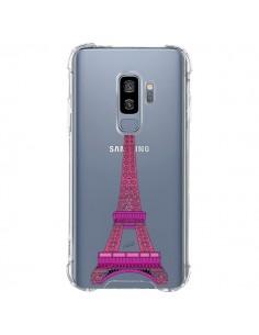 Coque Samsung S9 Plus Tour Eiffel Rose Paris Transparente - Asano Yamazaki