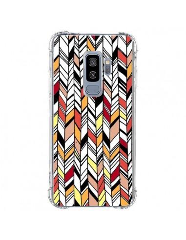 Coque Samsung S9 Plus Graphic Azteque Rouge Orange - Léa Clément