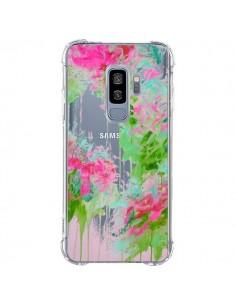 Coque Samsung S9 Plus Fleur Flower Rose Vert Transparente - Ebi Emporium
