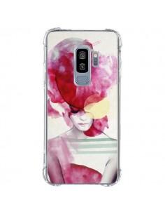 Coque Samsung S9 Plus Bright Pink Portrait Femme - Jenny Liz Rome