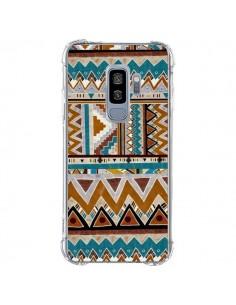 Coque Samsung S9 Plus Azteque Vert Marron - Kris Tate
