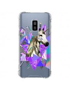 Coque Samsung S9 Plus Licorne Unicorn Azteque Transparente - Kris Tate