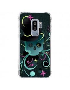 Coque Samsung S9 Plus Tête de Mort Papillon Skull - LouJah