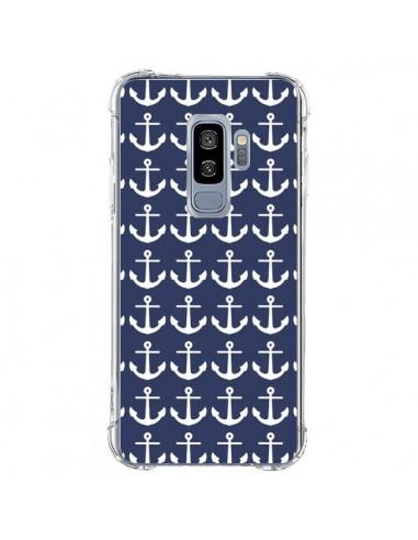 Coque Samsung S9 Plus Ancre Marin Bleu Anchors Navy - Mary Nesrala
