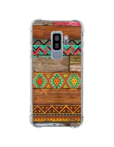 Coque Samsung S9 Plus Indian Wood Bois Azteque - Maximilian San