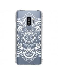 Coque Samsung S9 Plus Mandala Blanc Azteque Transparente - Nico