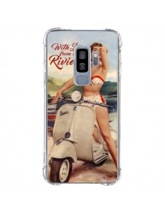 Coque Samsung S9 Plus Pin Up With Love From the Riviera Vespa Vintage - Nico