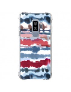 Coque Samsung S9 Plus Smoky Marble Watercolor Dark - Ninola Design