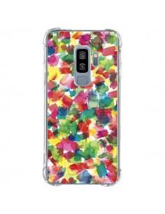 Coque Samsung S9 Plus Speckled Watercolor Blue - Ninola Design