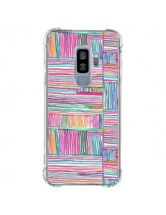 Coque Samsung S9 Plus Watercolor Linear Meditation Pink - Ninola Design