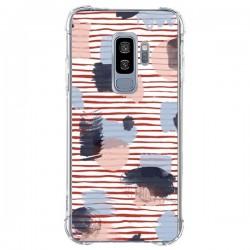 Coque Samsung S9 Plus Watercolor Stains Stripes Red - Ninola Design