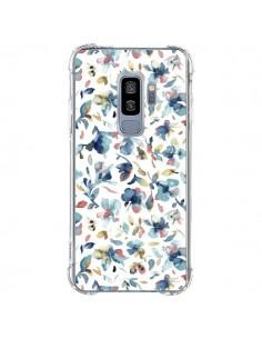 Coque Samsung S9 Plus Watery Hibiscus Blue - Ninola Design
