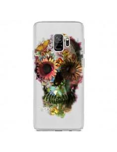 Coque Samsung S9 Skull Flower Tête de Mort Transparente - Ali Gulec