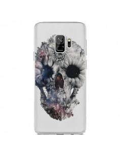 Coque Samsung S9 Floral Skull Tête de Mort Transparente - Ali Gulec