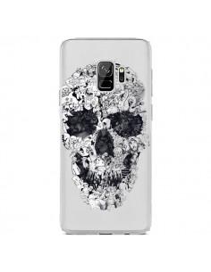 Coque Samsung S9 Doodle Skull Dessin Tête de Mort Transparente - Ali Gulec