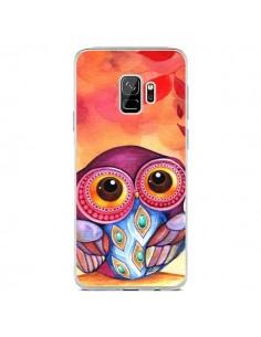 Coque Samsung S9 Chouette Feuilles Automne - Annya Kai