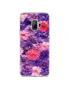 Coque Samsung S9 Fleurs Violettes Flower Storm - Asano Yamazaki